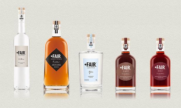 Línea de productos destilados de Fair Spirits